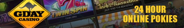 G'Day online pokies casino 24/7