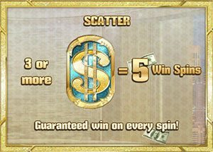 Pimped scatter symbol and free spins