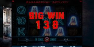 Big Win in Paranormal Activity iSoftBet slots