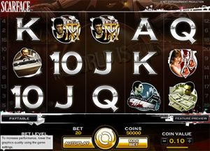 Scarface online pokies based on film