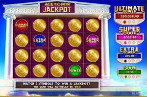 Age of the Gods pokies jackpot wins