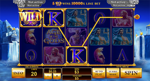 Age of the Gods progressive jackpot online pokies