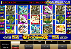 Major Millions classic Microgaming progressive jackpot pokies