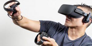 Oculus Rift virtual reality casino gaming device