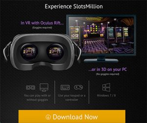 Slots Million Casino official VR pokies supported