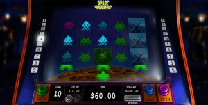 Space Invaders online pokies gameplay