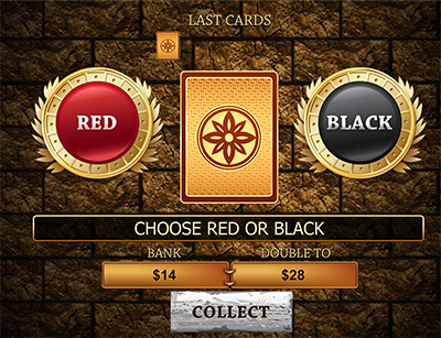 Gamble feature on Gladiator pokie