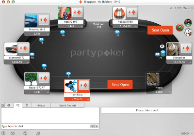 Party Poker game play
