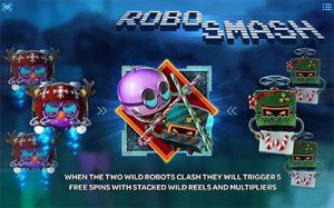 Robo Smash wild symbols and features