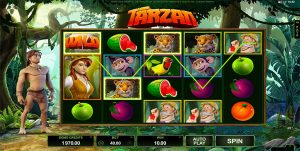 Officially licensed Tarzan online pokies by Microgaming