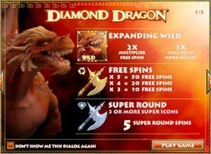 Diamond Dragon pokies expanding wilds