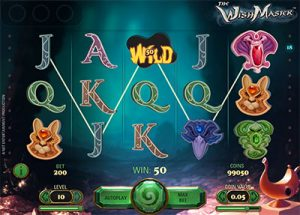 The Wishmaster online pokies by NetEnt software
