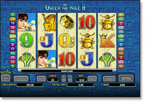 Queen of the Nile II pokies by Aristocrat software
