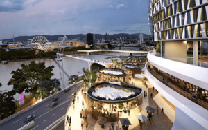 Artist impression of Queens Wharf Bridge