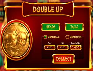 Double Up bonus game in Fa Fa Twins 3D slots