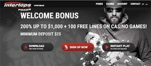 Intertops Poker welcome bonus