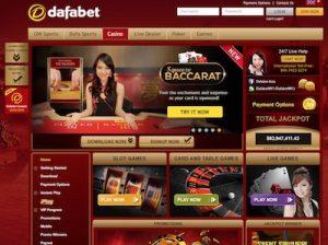 Dafabet casino lobby