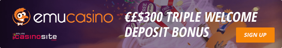 Emu Casino bonus offer sign up welcome