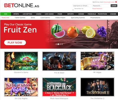 BetOnline Casino desktop screenshot