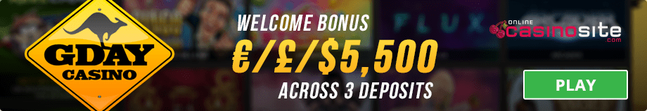 gday casino welcome bonus