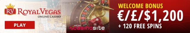 Royal Vegas Casino welcome bonus
