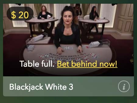 Mucho Vegas blackjack live dealer