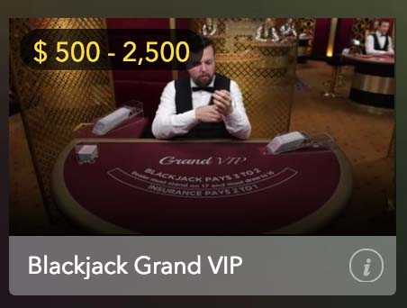 Play High limit blackjack at Mucho Vegas