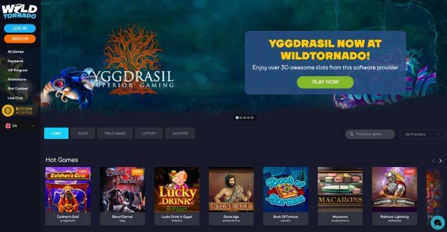 Wild Tornado online casino site