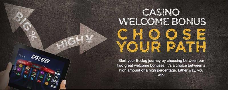 Bodog88 Choose Your Own Bonus Offer