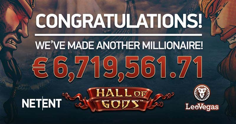 Leo Vegas Casinno bonus goes off on Hall Of Gods slot