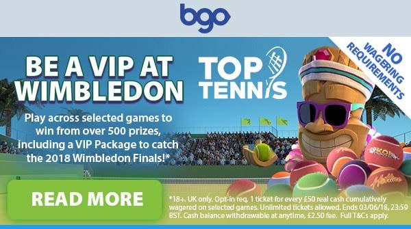 BGO Wimbledon 2018 promotion