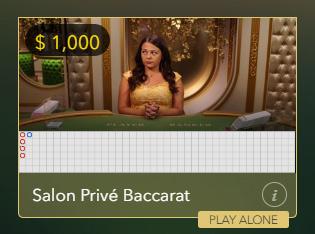 VIP live baccarat