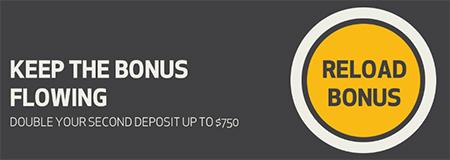 100% bonus match up to $750