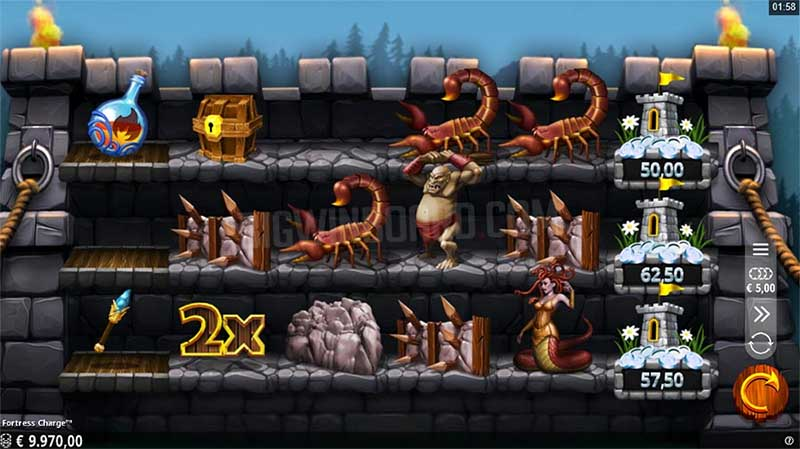 Fortress Charge by Crazy Tooth Studios is an innovative online slot