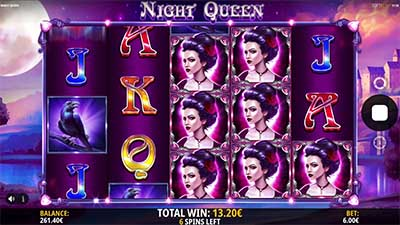 Night Queen has some great free spins and bonus features